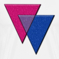 Triangles Symbol - Bisexual Pride Flag T-Shirts