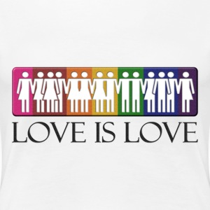Love is Love - LGBT Equality Women's T-Shirts - Women's Premium T-Shirt