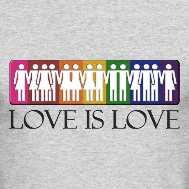Live Loud Graphics | Love is Love - Mens Long Sleeve T-Shirt by Next Level