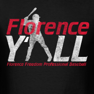 Design ~ Florence Y'all (red writing) Men's T-shirt