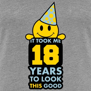 It Took Me 18 Years To Look This Good Smiley Women's T-Shirts - Women's Premium T-Shirt