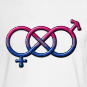 Gender Knot Symbol- Bisexual Pride Flag Long Sleeve Shirts - Men's Long Sleeve T-Shirt