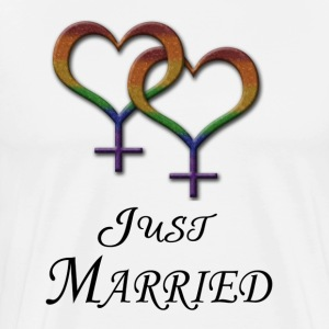 Just Married - Lesbian Pride - Marriage Equality T-Shirts - Men's Premium T-Shirt
