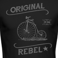 Design ~ Original Rebel - Men's Gray Long Sleeve