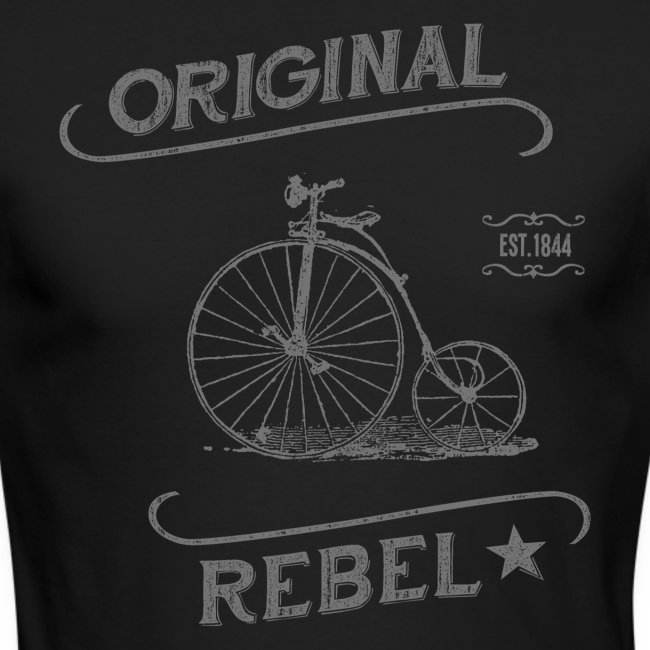 Original Rebel - Men's Gray Long Sleeve