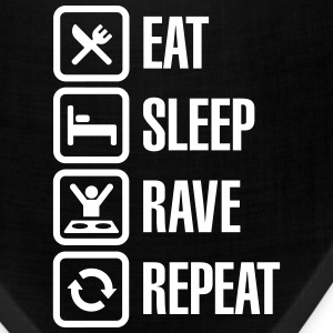 Eat sleep rave repeat Caps - Bandana