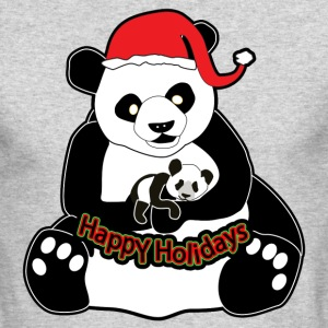 Pandas Happy Holidays - Men's Long Sleeve T-Shirt by Next Level