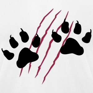 paws T-Shirts - Men's T-Shirt by American Apparel