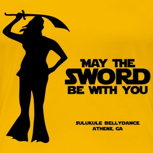 may_the_sword_be_with_you Women's T-Shirts - Women's Premium T-Shirt