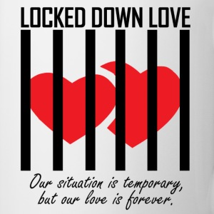 Locked Down Love - Black/Red Mugs & Drinkware - Coffee/Tea Mug