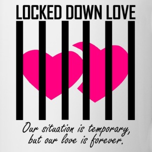 Locked Down Love - Black/Pink Mugs & Drinkware - Coffee/Tea Mug