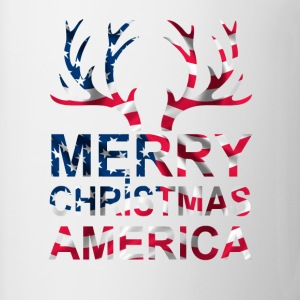 merry christmas america Bottles & Mugs - Coffee/Tea Mug