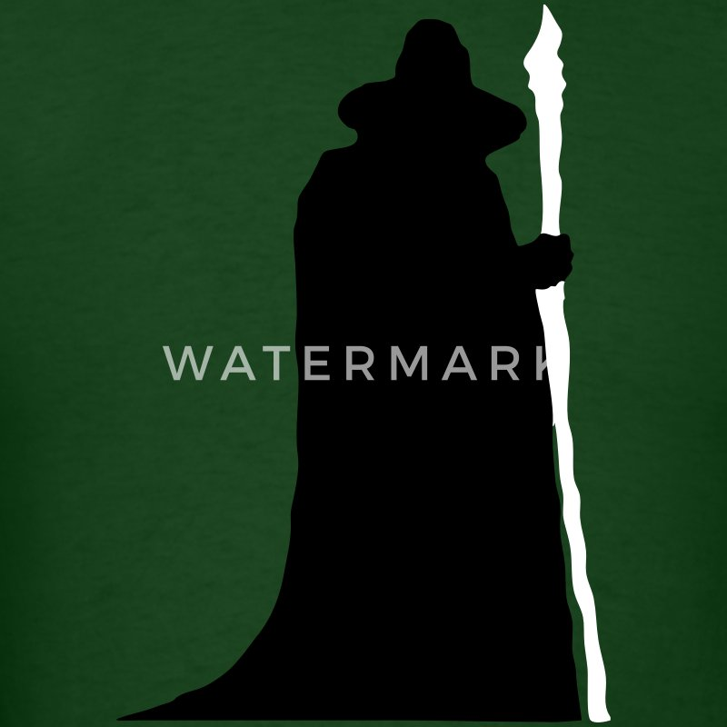 Gandalf / Wizard Silhouette T-Shirts - Men's T-Shirt