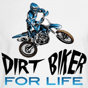 Dirt Biker For Life Blue Long Sleeve Shirts - Men's Long Sleeve T-Shirt