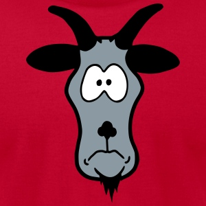 Animal Head: silly billy goat T-Shirts - Men's T-Shirt by American Apparel