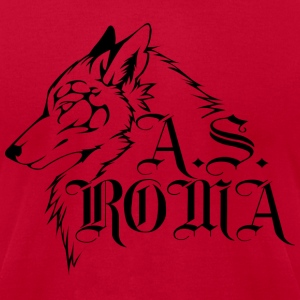 Tribal Wolf - Men's T-Shirt by American Apparel
