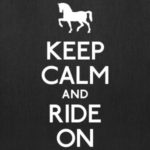 keep calm and ride on Bags & backpacks - Tote Bag