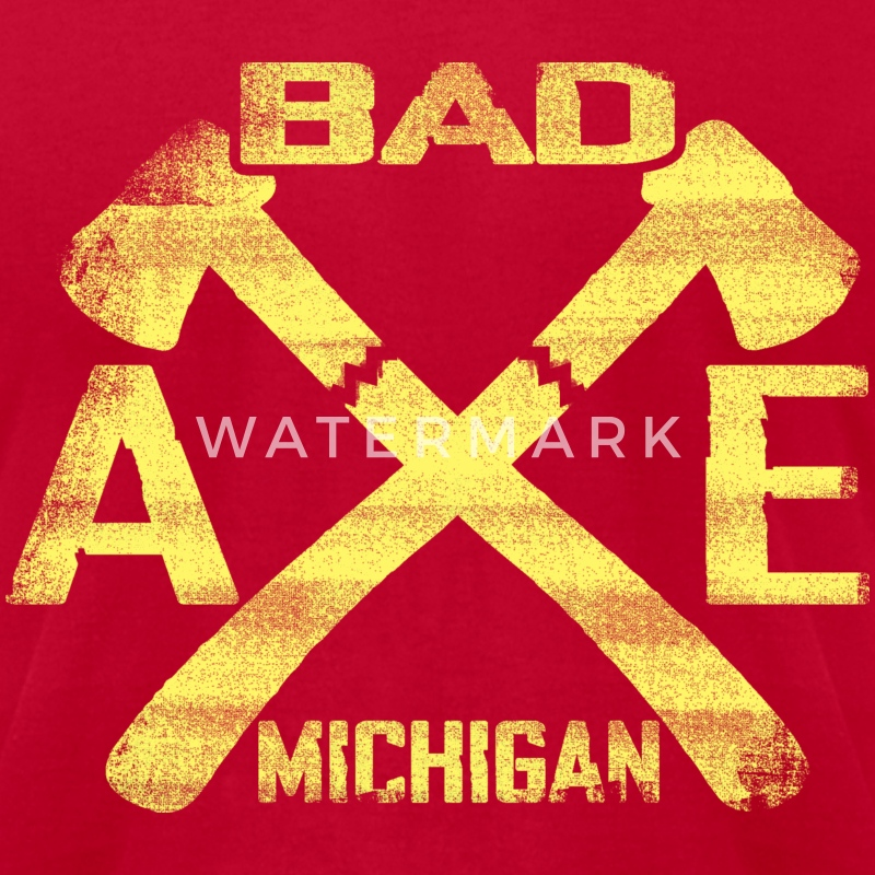 Bad Axe Michigan T-Shirts - Men's T-Shirt by American Apparel