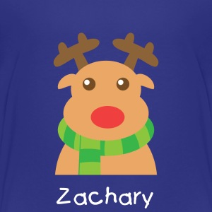 cute Christmas reindeer with scarf Kids' Shirts - Kids' Premium T-Shirt