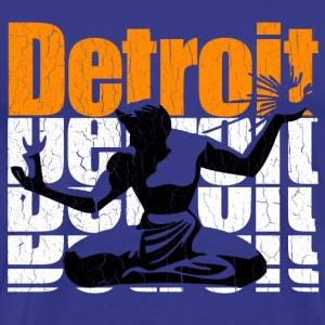 Vintage 1980s DETROIT (Distressed Design) - Men's Premium T-Shirt