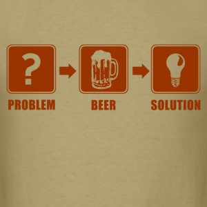 problem_beer_solution_t_shirt T-Shirts - Men's T-Shirt