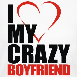 i love my crazy boyfriend - Women's Long Sleeve Jersey T-Shirt