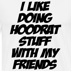 I Like Doing Hoodrat Stuff With My Friends - Men's Premium T-Shirt