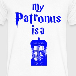 my patrons is a tardis T-Shirts - Men's V-Neck T-Shirt by Canvas