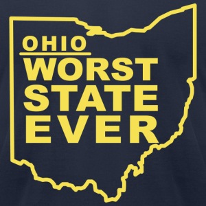 OHIO WORST STATE EVER T-Shirts - Men's T-Shirt by American Apparel