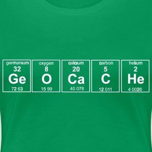 Geocache Periodic Table Women's T-Shirts - Women's Premium T-Shirt