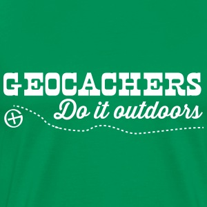 Geocachers do it outdoors T-Shirts - Men's Premium T-Shirt
