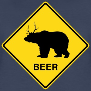 Beer Bear/Deer Crossing Sign Women's T-Shirts - Women's Premium T-Shirt