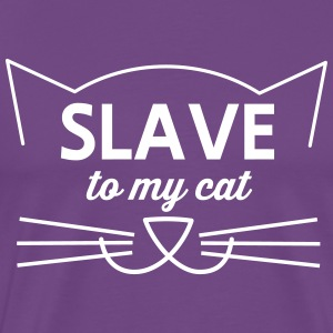 Slave to my cat T-Shirts - Men's Premium T-Shirt