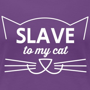 Slave to my cat Women's T-Shirts - Women's Premium T-Shirt