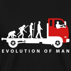 evolution_of_man_trucker_112013_b_2c T-Shirts