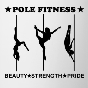 Pole Fitness Beauty Strength Pride Black Coffee Mu - Coffee/Tea Mug