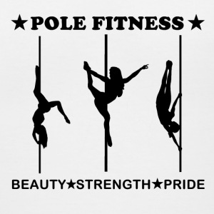 Pole Fitness Beauty Strength Pride Black Women's V - Women's V-Neck T-Shirt