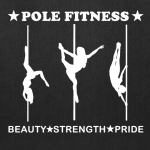 Pole Fitness Beauty Strength Pride White Tote Bag - Tote Bag