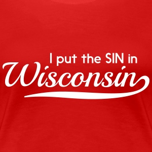 I put the SIN in Wisconsin Women's T-Shirts - Women's Premium T-Shirt