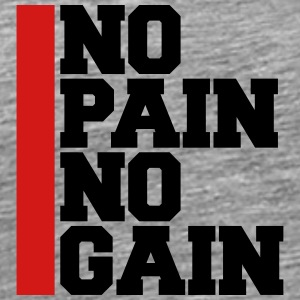 No Pain No Gain Bodybuilding Logo T-Shirts - Men's Premium T-Shirt