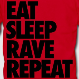 Eat Sleep Rave Repeat Zip Hoodies & Jackets - Unisex Fleece Zip Hoodie by American Apparel