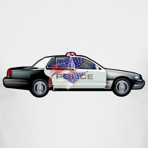 Police Car - Men's Long Sleeve T-Shirt by Next Level