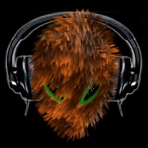 Cuddly Furry Alien DJ with Headphones