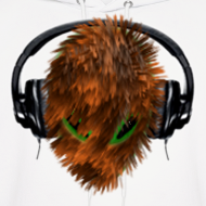 Design ~ Hoodie with Cuddly Furry Alien DJ in Headphones