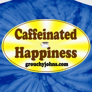 Grouchy Johns Caffeinated Happiness TieDye Tee - Unisex Tie Dye T-Shirt