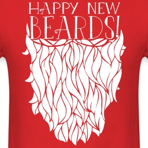 Happy New Beards 2014 T-Shirts - Men's T-Shirt
