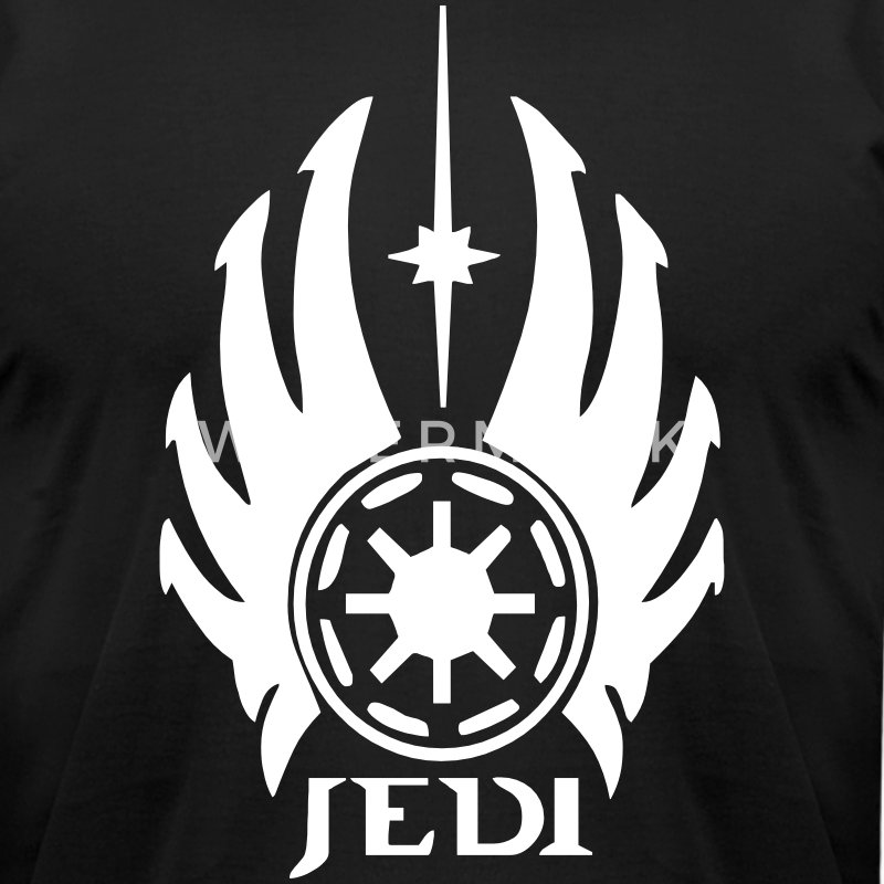 Jedi Logo T-Shirts - Men's T-Shirt by American Apparel