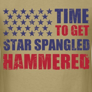 time_to_get_star_spangled_hammered T-Shirts - Men's T-Shirt