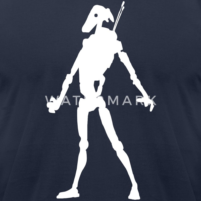 battle droid T-Shirts - Men's T-Shirt by American Apparel