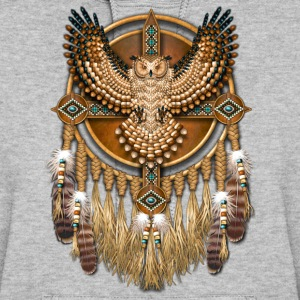 Beadwork Great Horned Owl Mandala - Women's Hoodie